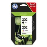 HP 302 Black & Colour Twin Pack X4D37AE