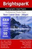 Gloss 260gsm 6x4 Photo Paper