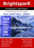Gloss 260gsm 7x5 Photo Paper