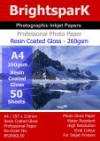 Gloss 260gsm A4 Photo Paper