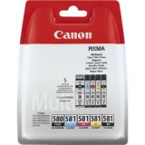 Canon PGI-580 Black & CLI-581 Colours Multipack