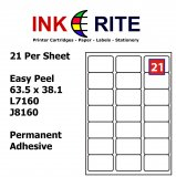 Labels 21 per Sheet
