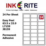 Labels 24 per Sheet