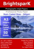 Gloss 260gsm A3 Photo Paper