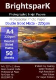 Matte 220gsm A4 (2 Sided) Photo Paper