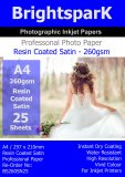 Satin 260gsm A4 Photo Paper